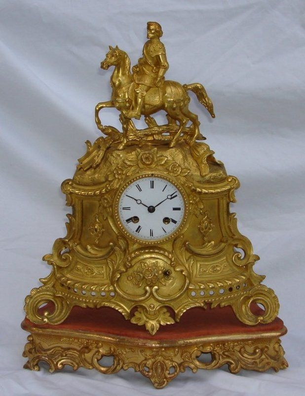 Antique French Clock 18th - 19th C. Ormolu Silk Susp. For Sale | Antiques.com | Classifieds