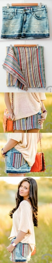 DIY Ethnic Skirt. With any fabric cute for my girls.