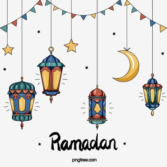 عناصر مهرجان رمضان رمضان القمر كرتون Png وملف Psd للتحميل مجانا Islamic Art Pattern Ramadan Lantern Cartoon Clip Art