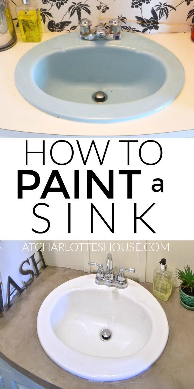 Painting bathroom sink - How To Paint A Sink