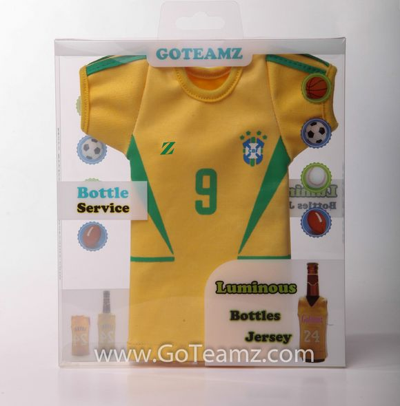 FIFA World Cup-Brazil Glow-in-the Dark 12 ounce Beer or Soda Bottle Sleeve  Represent your players, team and country     http://www.goteamz.com/product-category/soccer/world-cup/south-america/brazil/