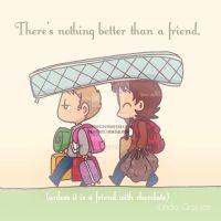 Friends with chocolate by KamiDiox