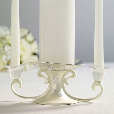 A creative one piece unity candle holder with subtle for Creative candle holders