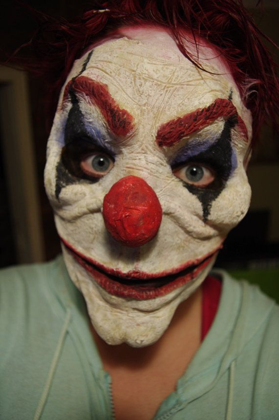 Evil Clown Mask Halloween Costume Mask by SometimesAliceFX
