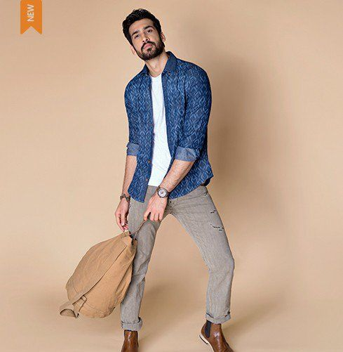 uy casual shirts for men online at Andamen.com at the best price. Premium casual shirts that reimagine the done and feature the best in high fashion menswear