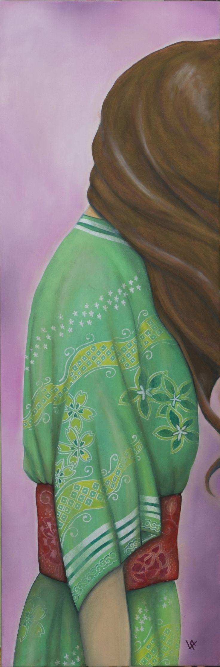 Falsa Amicizia (Senso di colpa) _ olio su tela e vernice smaltata _ 2015