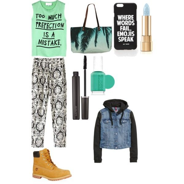 Untitled #7 by charl1e231 on Polyvore featuring polyvore, fashion, style, 5 Preview, H&M, Chicnova Fashion, Timberland, Samudra, Jac Vanek, Dolce&Gabbana, Laura Mercier and Essie