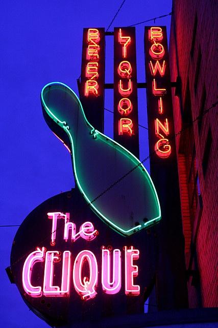 The Clique Beer Liquor Bowling MI via flickr
