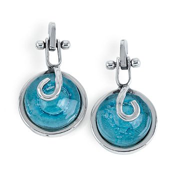 Tianguis Jackson Silver and Turquoise Blue Glass Earrings http://www.qualitysilver.co.uk/Jewellery/Tianguis-Jackson-Silver-and-Stone-Set-Earrings.html