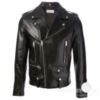 Biker Leather Jacket -Black for Men
