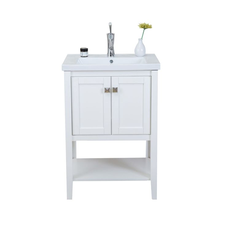 Eviva Tiblisi Modern/Transitional 24-inch Bathroom Vanity with Porcelain Sink