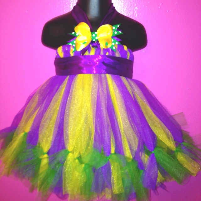 Mardi Gras Tutu Dress I made today.   www.Facebook.com/RubyLouisePlease