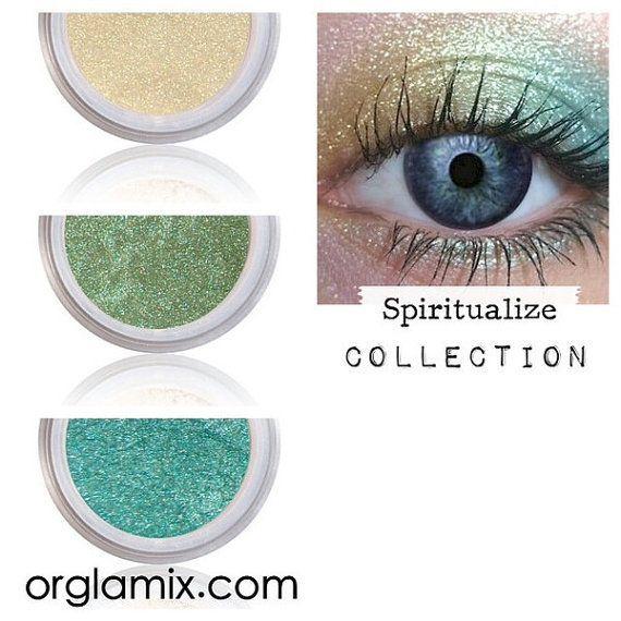 Eyeshadow Kit - Spring Make Up - Mineral Makeup Eyeshadow - Eye Shadow Kits Palettes - Natural MAC Cosmetics - Eye Makeup Sets - Vegan by orglamix