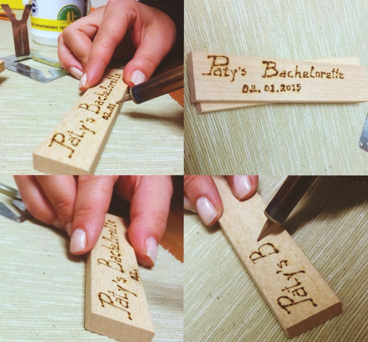 preparing a small #gift for the girls, as a #souvenir to remember Paty's #bachelorette. #pyrography #woodcraft  @pati_peleki  @angsupertramp