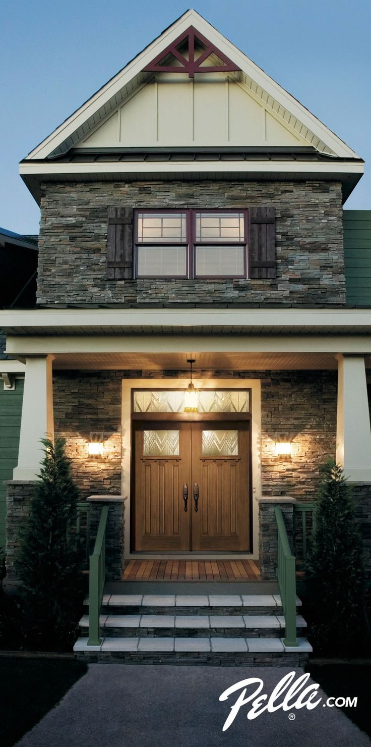 Keep your home warmer this winter with a Pella® energy-efficient fiberglass front door.