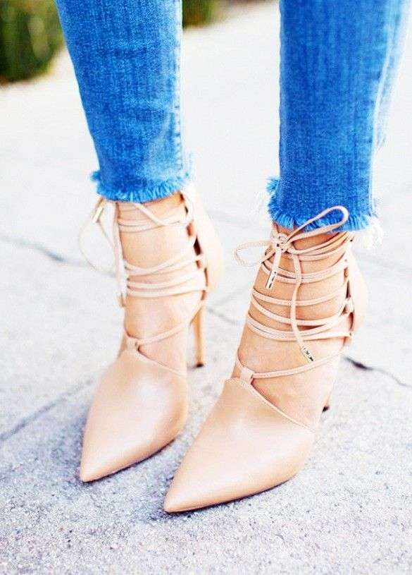 www.imdb.me/jessicasirls  fashion style shoes heels pumps nude  31 Pretty Fashion Images That Blew up on Pinterest via @WhoWhatWear