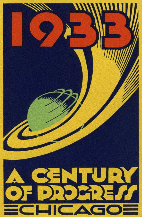 art deco posters and prints | 1933 Chicago Century of Progress Expo Art Deco Poster