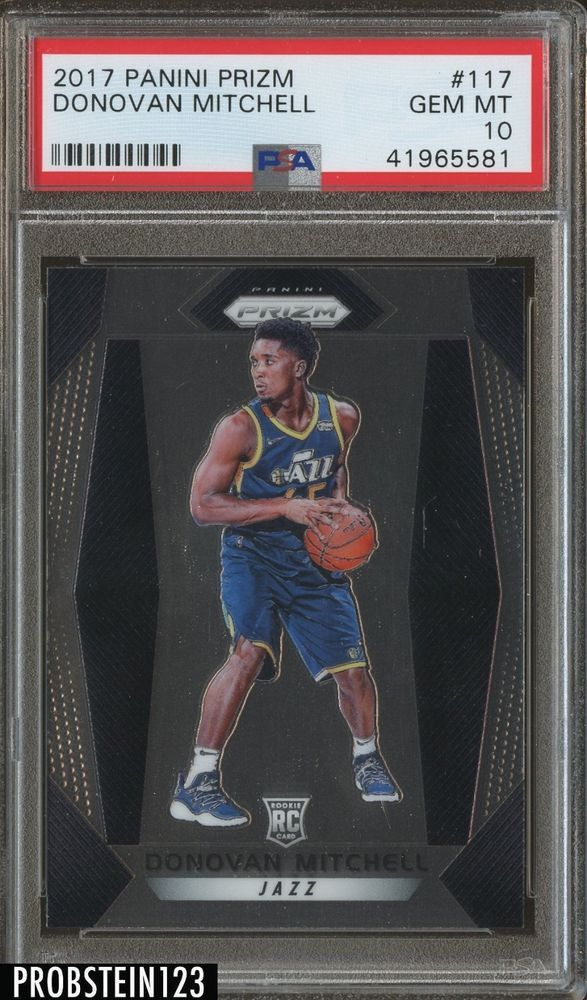 659404283 2017 Panini Prizm  117 Donovan Mitchell Utah Jazz RC Rookie PSA 10 Auction   2