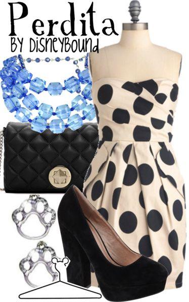 Perdita by DisneyBound: Inspiration Outfits, Polka Dots Dresses, Disney Bound Outfits, Disneybound, 101 Dalmatians, The Dresses, Android App, Disney Inspiration Fashion, Disney Fashion