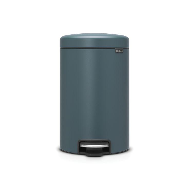 Poubelle à Pédale newIcon, 12 litres, Fermeture douce, Seau en Plastique - Mineral Reflective Blue - Poubelles et corbeilles à papier - Gestion des déchets  | Brabantia