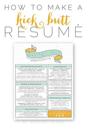 How To: Make A Kick Butt Resumé ~~ Lots of great tips in here. The swag at the top would be too much for most job hunters and I don't like the usage of an all caps font, but I love how everything else is compartmentalized. Beautiful organization.