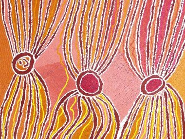 A guided visit of the Aboriginal Art exhibition at the AGNSW with Solenne Ducos-Lamotte, IDAIA's Director, Specialist in Aboriginal Art