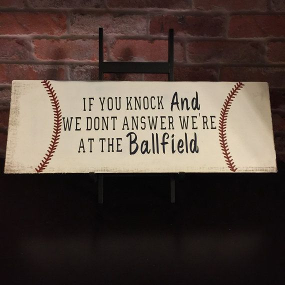 Hey, I found this really awesome Etsy listing at https://www.etsy.com/listing/227665082/baseball-door-hanger