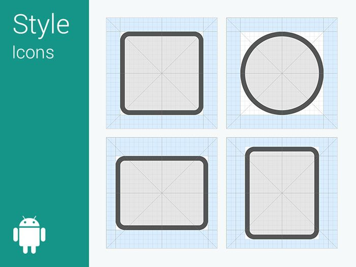 android l icon grid system icons pinterest material design