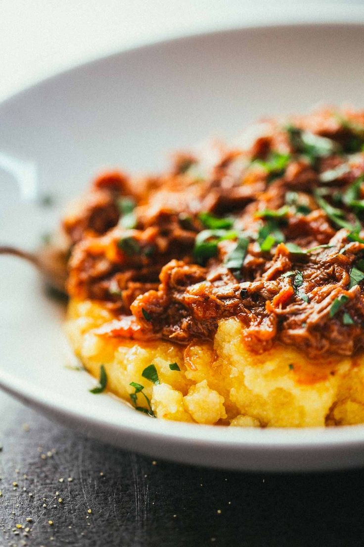 Braised beef, Polenta and Beef on Pinterest
