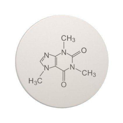 caffeine chemical formula coffee chemistry element coaster - coffee custom unique special