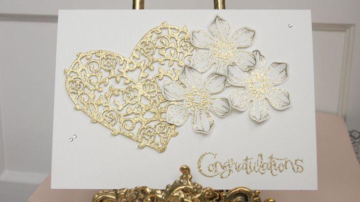 Stampin UP Handmade Congratulations Engagement Wedding Size A5 X CUT | eBay