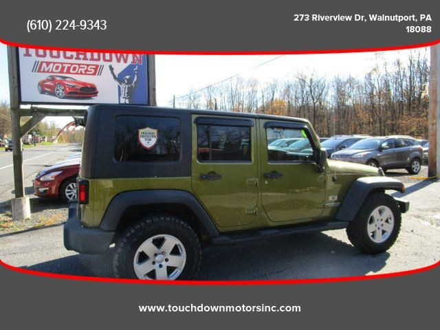 2008 Jeep Wrangler Unlimited X Sport Utility 4d 2008 Jeep Wrangler Jeep Wrangler Unlimited Jeep Wrangler
