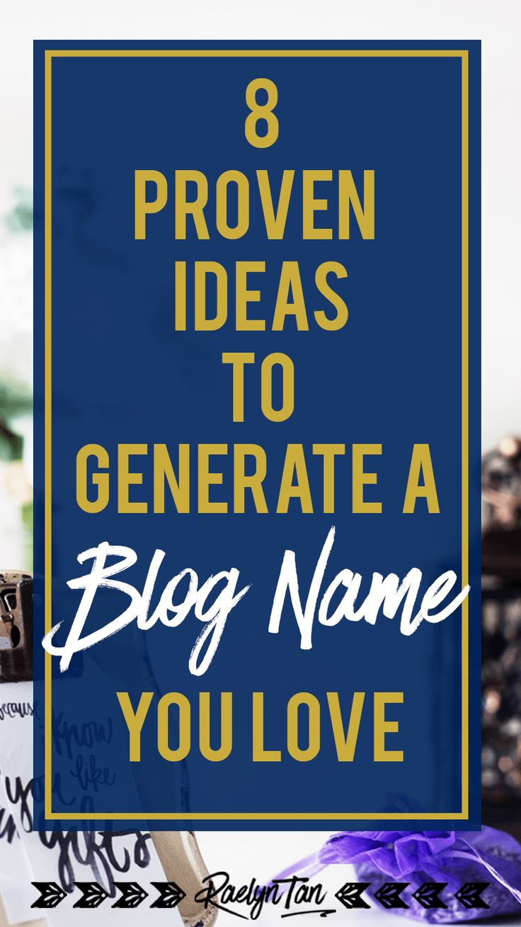 Just starting to blog? Here are some blog name generation ideas that have worked for others and will inspire you, useful for lifestyle, fashion, food, beauty, travel & creative bloggers - basically any beginner blogger + business owner!