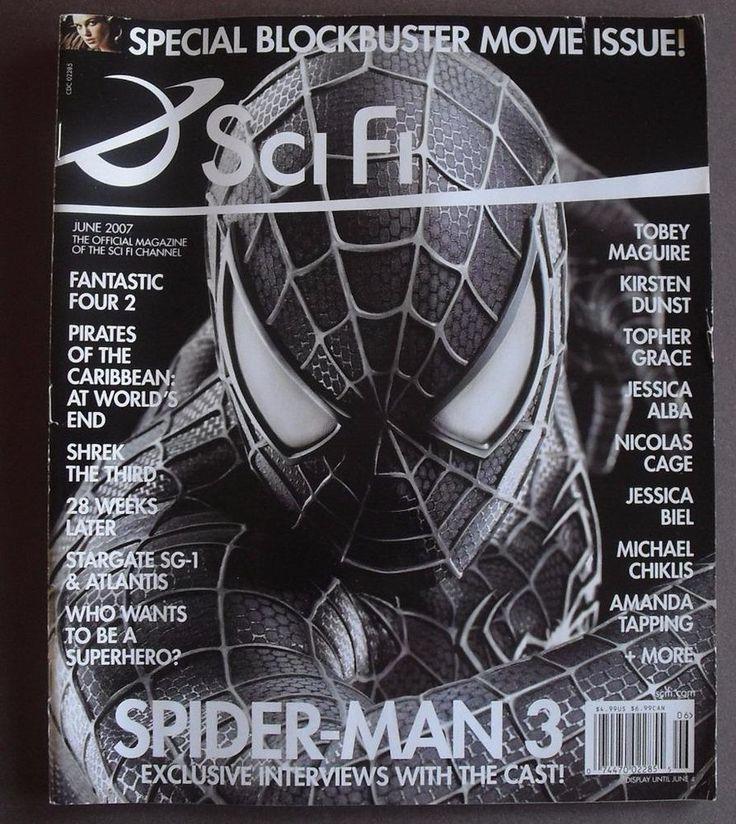 Sci Fi - Scifi Magazine 2007- Spiderman- Shrek - Fantastic 4 - Stargate + more
