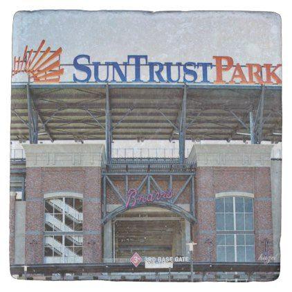 Suntrust Park Atlanta Marble Coaster - artists unique special customize presents