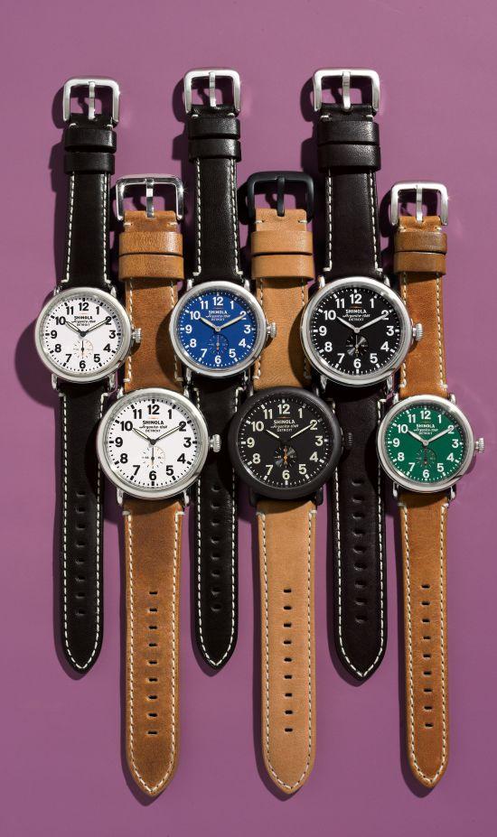 Handcrafted in Detroit: Shinola watches.