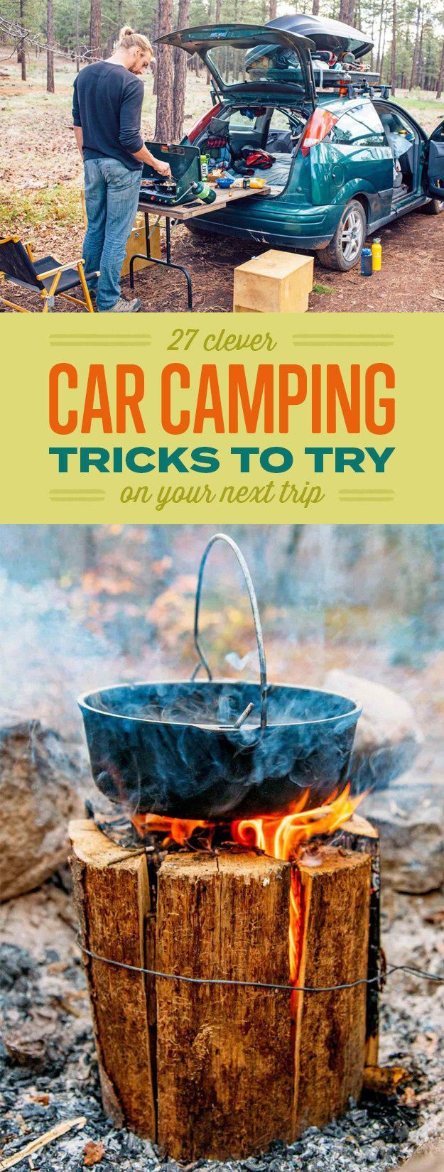 27 Borderline Genius Ideas For Anyone Who Camps With Their Car http://camptentlover.com/comfortable-ways-to-sleep-in-a-tent/
