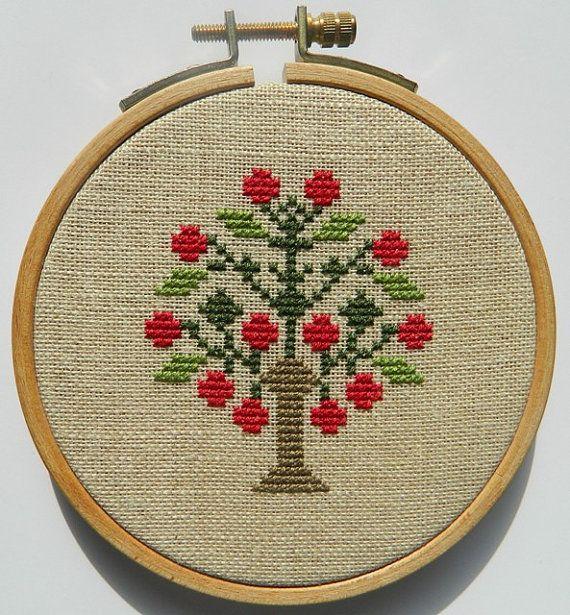 σχέδια με δέντρα για κέντημα /tree cross stitch patterns
