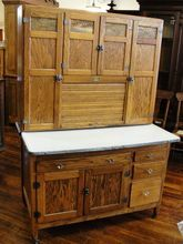 1920 Sellers Mastercraft Oak 2 Piece Kitchen Cabinet