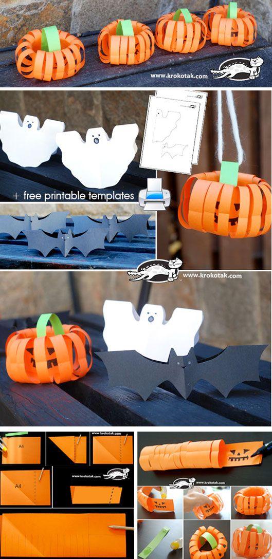 Easy paper decoration for Halloween halloween diy kids crafts
