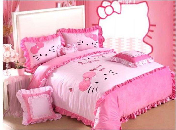 Bedroom Hello Kitty Room Design Ideas ~ http://www.lookmyhomes.com/hello-kitty-room-designs-ideas-for-girl/
