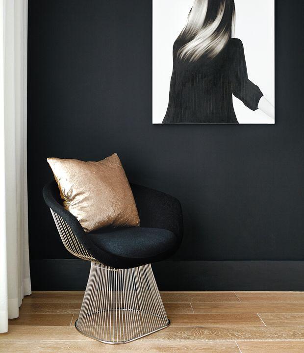 30 pi ces qui prouvent que la peinture noire ne fait pas peur d co pinterest accents. Black Bedroom Furniture Sets. Home Design Ideas