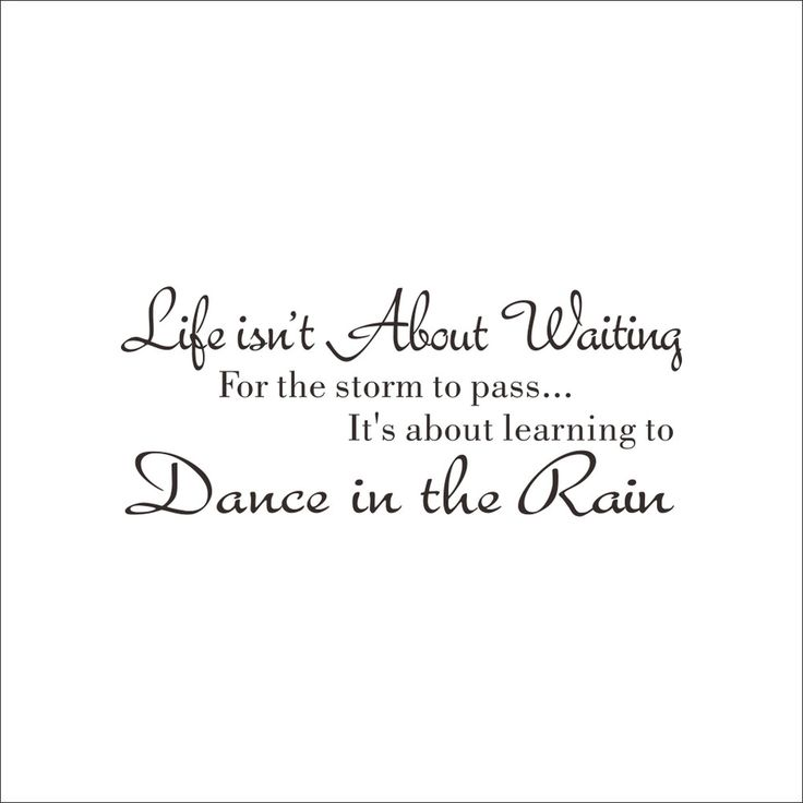 Life is not About Waiting Inspirational quotes Removable Cute Art Characters Writing Vinyl PVC Decal Wall Sticker Home Decor