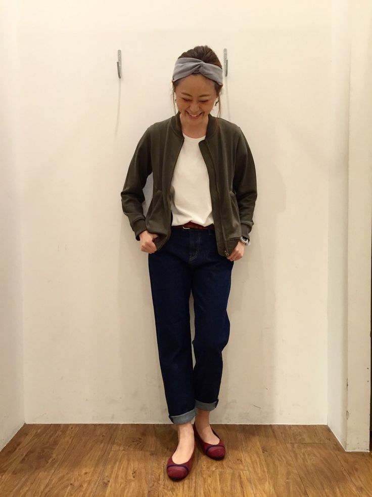 coen橿原アルル店 | Kaori   Tsujiiさんのブルゾン「coen ライトウラケMA-1」を使ったコーディネート