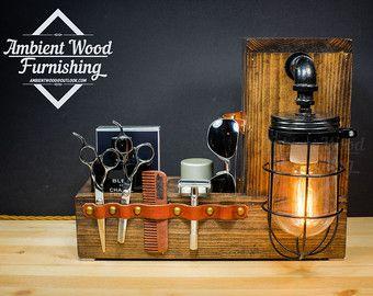 Lámpara de madera utilidad de almacenamiento con por AmbientWood