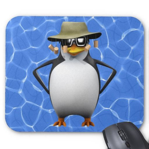 3D Penguin Australian Mouse-pads by Steve Young