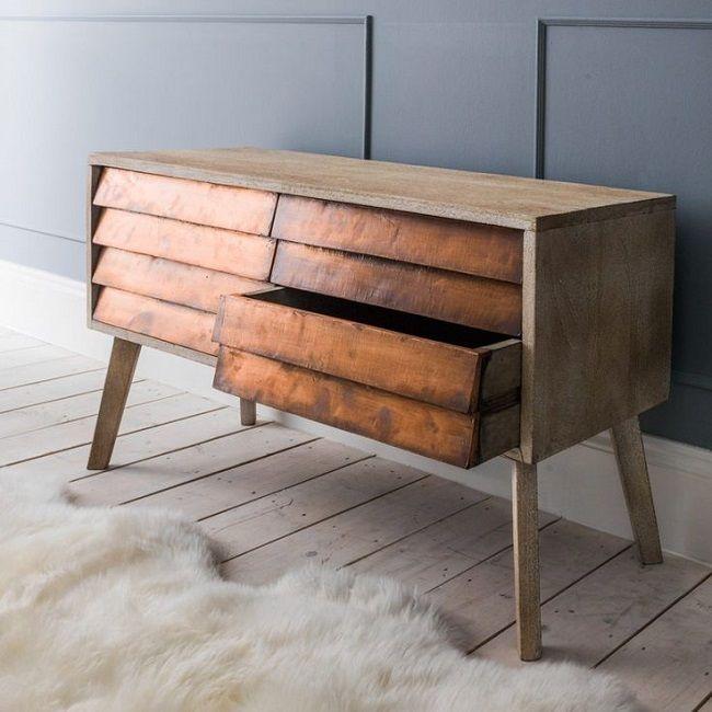 copper living room, sideboard