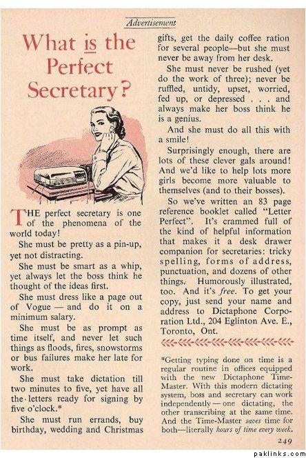 Secretary duties...