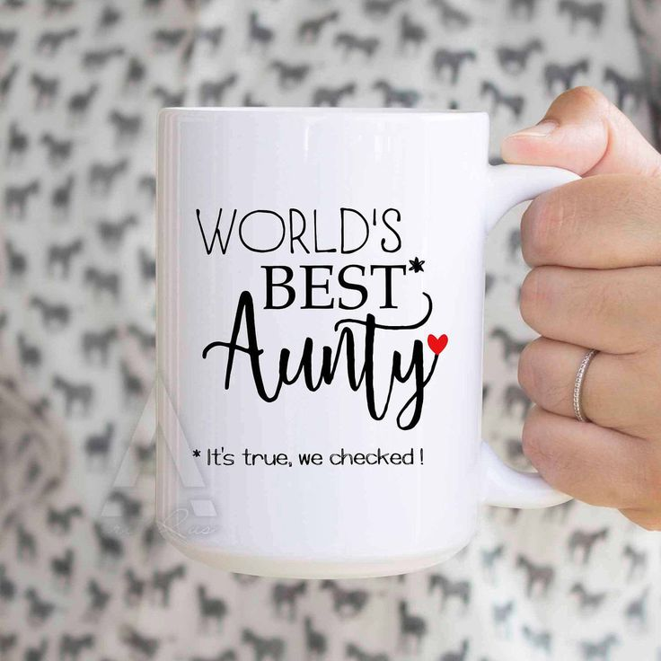 "Gift for aunty ""Worlds best aunty"" coffee mug, aunt gifts, auntie gifts, gift ideas for aunt, best aunt gifts, presents for aunts MU502 by artRuss on Etsy"