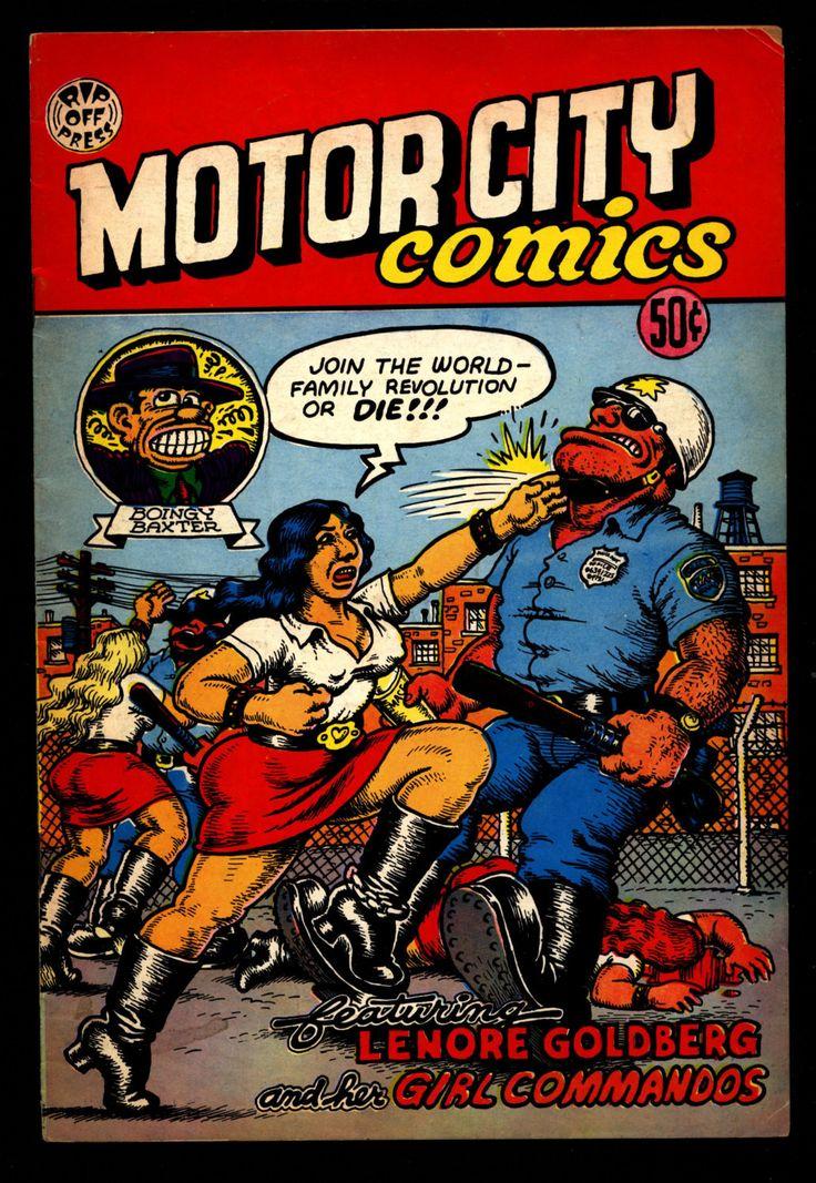 MOTOR CITY Comics #1 4th Robert Crumb Humor Underground*